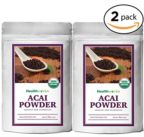 Healthworks Acai Berry Powder Freeze-Dried Raw Organic, 8 Ounce(2 4oz Pack) by Healthworks