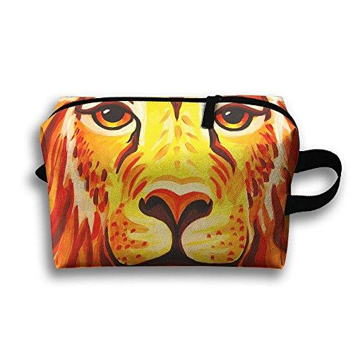 Lion Face Paint Cosmetic Bags Makeup Organizer Bag Pouch Zipper Purse Handbag Clutch Bag ()