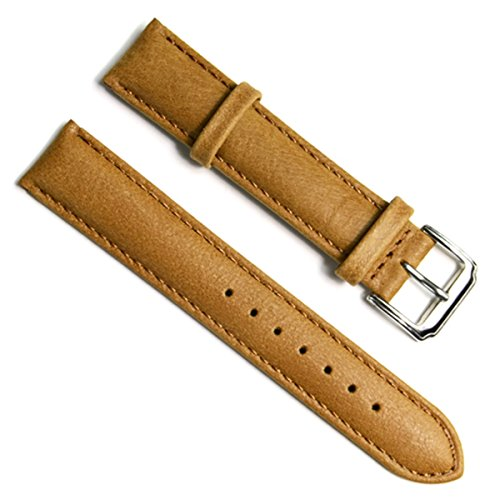 18mm Handmade Vintage Replacement Leather Watch Strap/Watch Band (Oil Wax Leather/Beige)