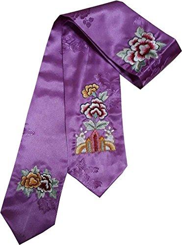 HANBOK DAENGGI PURPLE EMBROIDERY Korean Traditional Hair Accessory daenggi bassi Girls Junior Womans purple by Hanbok store