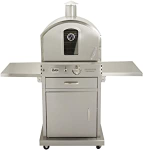 Summerset 'The Oven' Outdoor Freestanding Large Capacity Gas Oven with Pizza Stone, Smoker Box and Mobile Cart, 304 Stainless Steel Construction, Liquid Propane