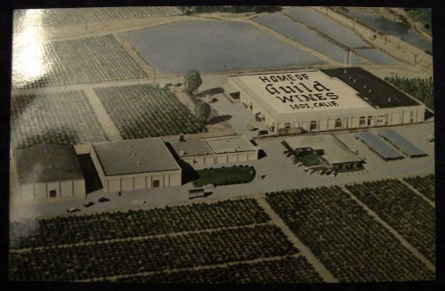 California, Lodi. GUILD WINES (aerial view) Bottling Plant Postcard c1960. Blank reverse. VG+ condition. Self published.