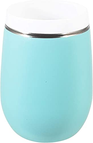 CeramiSteel Ultimate Insulated Wine Glass (9 ounce), Ceramic Inner Coating over Stainless Steel, Durable Turqoise Finish