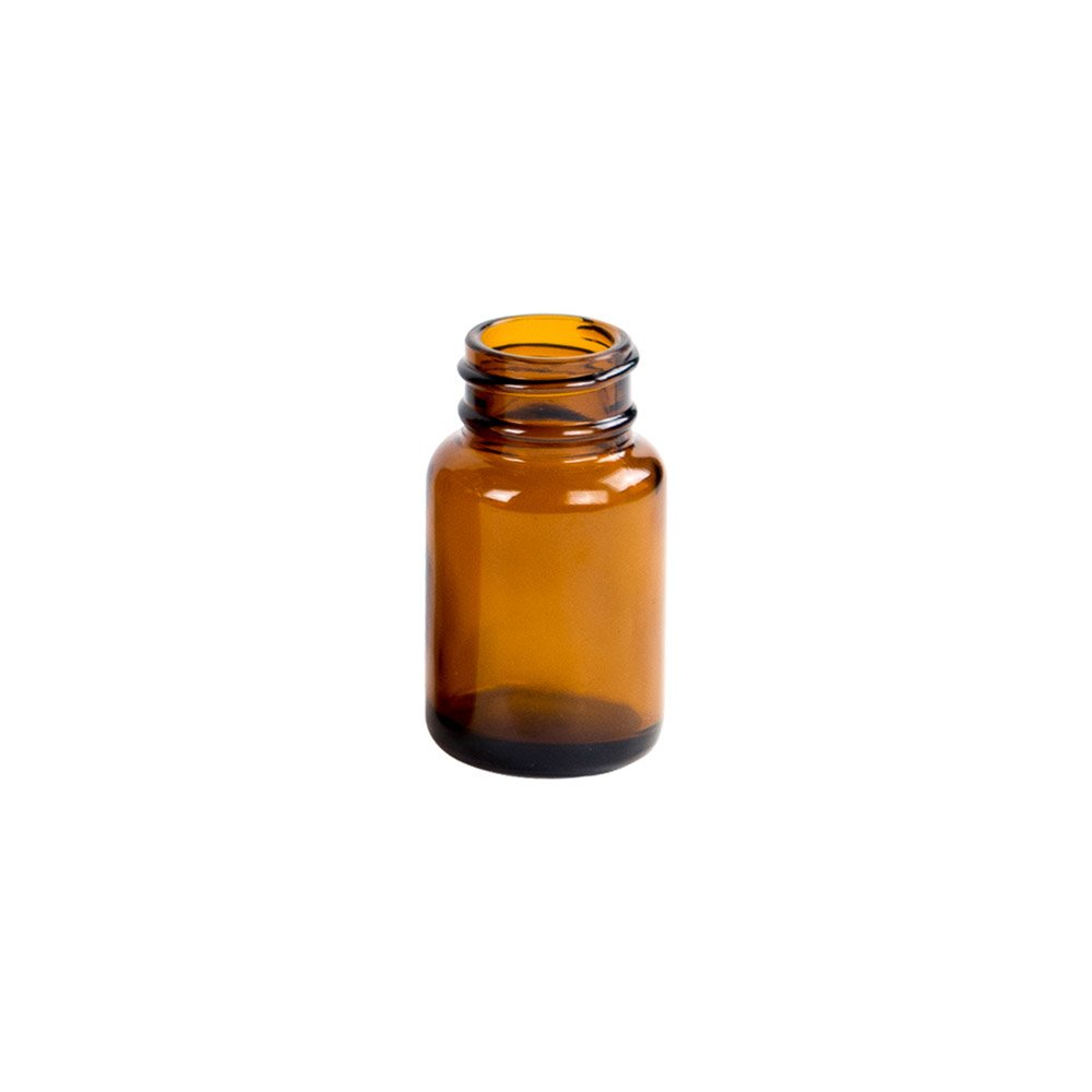 30ml Glass Wide Mouth Amber Packer Bottles with 28mm with 400 Thread Neck (24 Bottles) by Verified Exchange