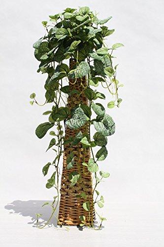 インテリアグリーン人工観葉植物ミントパインスタンドタイプ(網籠)、光触媒製品 B07DBGN53T