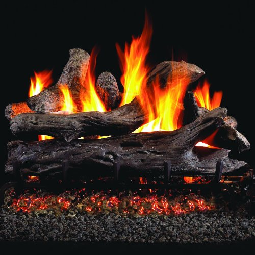 (Peterson Real Fyre 24-inch Coastal Driftwood Outdoor Log Set With Vented Stainless G45 Burner)