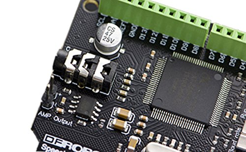 Speech Synthesis Shield For Arduino Open Source Hardware Maker DIY Maker/The Speech Synthesis Shield For Arduino Makes It An Easy Way To Give Voice To Your Robots And Projects by DF MAKER