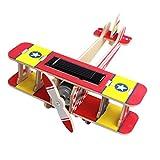 Baoblaze Solar Power Energy 3D Wooden DIY Jigsaw Puzzle Handmade Airplane Model Toys Kits for Kids Children - #5, as described