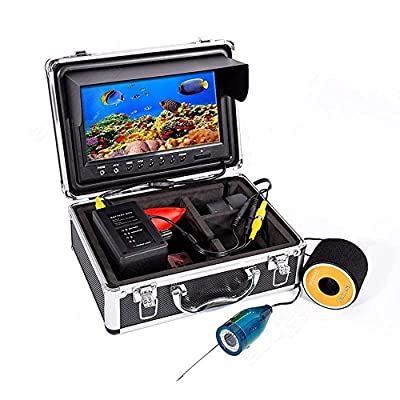 "Eyoyo 9"" Color LCD HD 1000TVL Waterproof 30m Cable 4000mAh Rechargeable Battery Fish Finder Infrared IR LED Underwater Fishing Camera with LED Adjustable&Monitor Remote Control by China OEM"