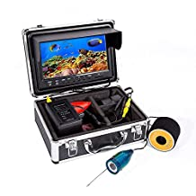"Blueskysea Eyoyo 9"" Color LCD HD 1000TVL Waterproof Cable 4000mah Rechargeable Battery Fish Finder Underwater Fishing Camera with LED Adjustable&Monitor Remote Control"