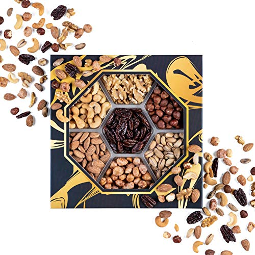 Assorted Mix Nuts Platter, Perfect Nuts Gift Baskets for Christmas, Gourmet Nuts Feast Ideas, Ideal Gift for Mothers and Fathers Day