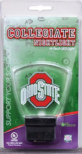 Authentic Street Signs 2-Pack NCAA Officially Licensed, LED Night Light, Super Energy Efficient-Prime Power Saving 0.5 watt,Great Sports Fan Gift for Adults-Babies-Kids (Ohio State Buckeyes)