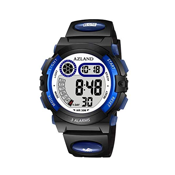 Kerrian Online Fashions 51PAUrlyrcL AZLAND Updated Version Added Three Alarms - Multifunctional Waterproof Boys Girls Watch Digital Sports Kids Watches