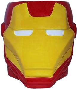Silver Buffalo Marvel Iron Man 3D Sculpted Ceramic Mug, 20-ounces, Red and Yellow