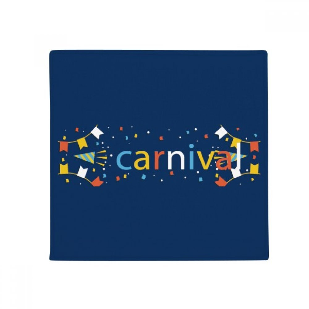 DIYthinker Balloon Fireworks Display Happy Carnival of Venice Anti-Slip Floor Pet Mat Square Home Kitchen Door 80Cm Gift