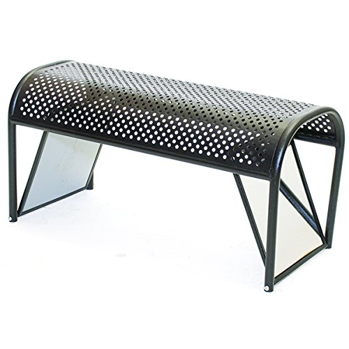 KC Store Fixtures 52308 Shoe Bench with Mirrored Ends, 18'' Height, 16'' Width, 36'' Length, Metal by KC Store Fixtures