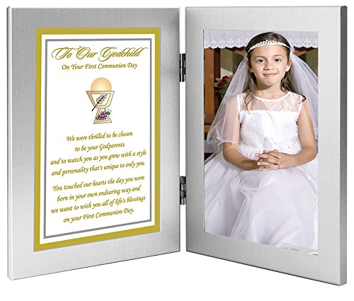 Poetry Gifts First Communion Gift for Godchild from Godparents, Add Photo by Poetry Gifts