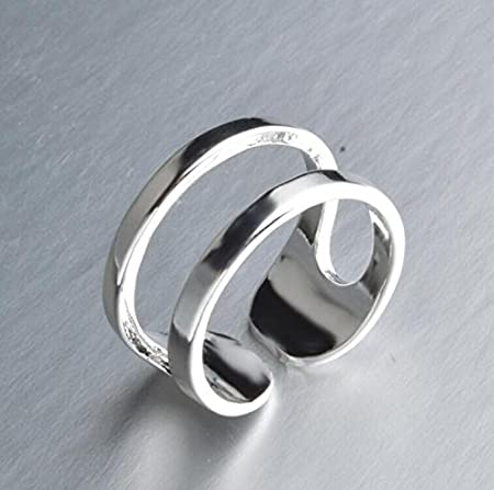 VERSATILE ADJUSTABLE FINGER THUMB RING Can be set from size N up to V Hallmarked 925 silver hV7afc2