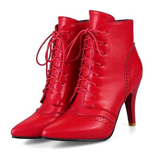 High Zanpa Red Alti Donna Caviglia Stivali Tacchi AXzw6qrXnx