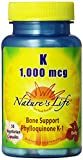 Cheap Nature's Life K , Bone Support, Phylloquinone, 1000 Mcg, 50 Vegetarian Capsules