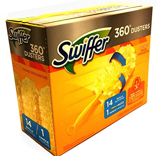 Swiffer 360 Disposable Cleaning Dusters Refills, Unscented, with 1 Handle and 14 Refills