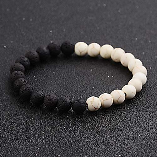 Ashley Silver Bracelets - Hebel Women Men Matte Black Onyx Crystal Quartz Mala Beads Beaded Bracelets | Model BRCLT - 31755 |