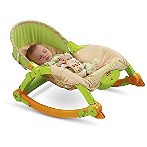 Fisher-Price Newborn to Toddler Portable Rocker Plus BONUS Hypoallergenic, Unscented Baby Wipes, 128 Count