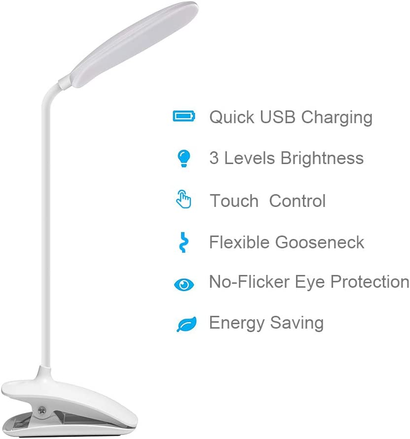 DEEPLITE Clip on Touch Control Table Lamp