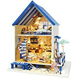 Rylai 3D Puzzles Wooden Handmade Miniature Dollhouse DIY Kit w/ Light -Romantic Aegean Sea