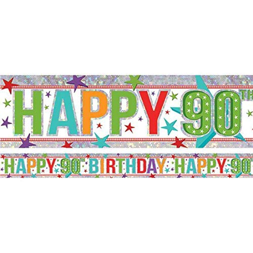 90th Birthday Color Banner