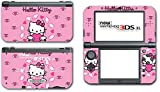 Hello Kitty Pink Flying Hearts Wings Video Game Vinyl Decal Skin Sticker Cover for the New Nintendo 3DS XL LL 2015 System Console