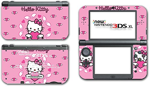 Hello Kitty Cute Pink Flying Hearts Wings Art Video Game Vinyl Decal Skin Sticker Cover for the New Nintendo 3DS XL LL 2015 System Console