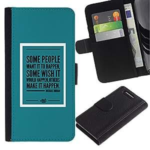 Supergiant (Teal Mint Green Poster Make It Happen) Dibujo PU billetera de cuero Funda Case Caso de la piel de la bolsa protectora Para Sony Xperia Z3 Compact /D5803 / D5833