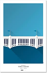 Yankee Stadium - New York Yankees - Minimalist Art Poster Print (11X17 Inches)