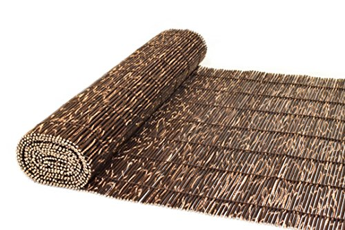 Bamboo Table Runner: 100% Natural Hand Woven Decorative Cover For Dinner And Coffee Table, Eco- Friendly Sustainable Materials, Elegant Style, Wooden Rustic Design (Freckled Brown, (Brown Natural Coffee Table)