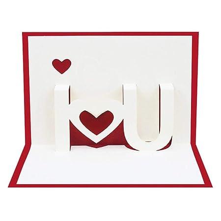 YAOJII Tarjetas de Papel 3D Pop Up Tarjetas de felicitación ...