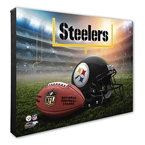 Photo File Pittsburgh Steelers Helmet - Photo File NFL Pittsburgh Steelers Helmet & Stadium High Resolution Canvas, 16
