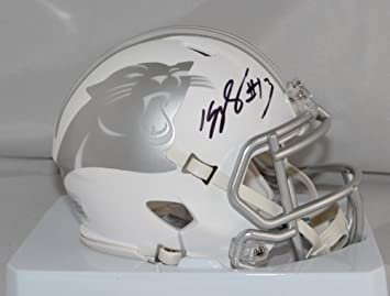 682e158a5 Kelvin Benjamin Autographed Carolina Panthers ICE Speed Mini Helmet-  Beckett Auth