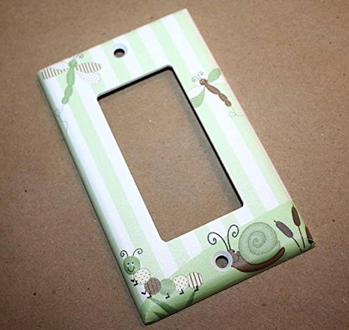 Dragonfly Kids Bedroom Baby Nursery Single Light Switch Cover LS0018 (Single Standard) Toad and Lily LS0018a