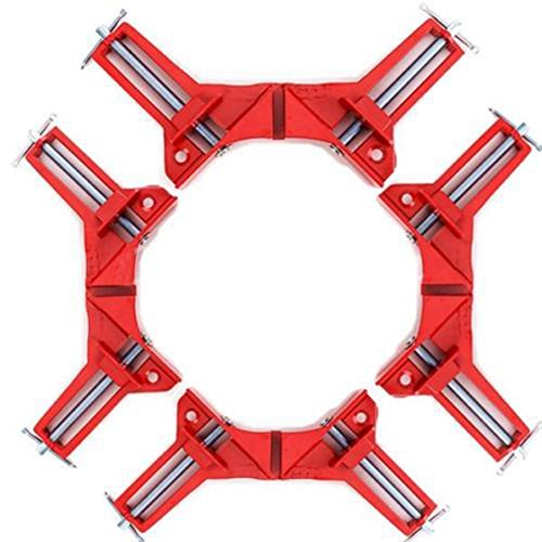 4pcs 75mm Mitre Corner Clamps Picture Frame Holder Woodwork Right Angle Red R SODIAL right angle clamp