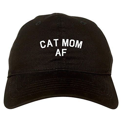 FASHIONISGREAT Cat Mom AF Pet Lover Mother Dad Hat Baseball Cap Black