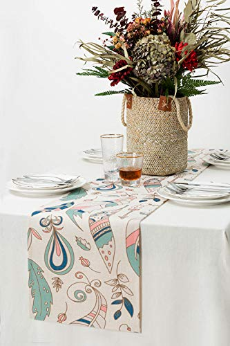 """KEY SPRING Tribal Table Runners (72 X12 Inch) for Wedding Table Decor, Bridal Shower, Birthday Party, Housewarming Gift… - Material: Cotton & Linen Size: 12"""" X 72"""" (30cm X 180cm) Technology:High Temperature Digital Printing - table-runners, kitchen-dining-room-table-linens, kitchen-dining-room - 51PAZXpP68L -"""