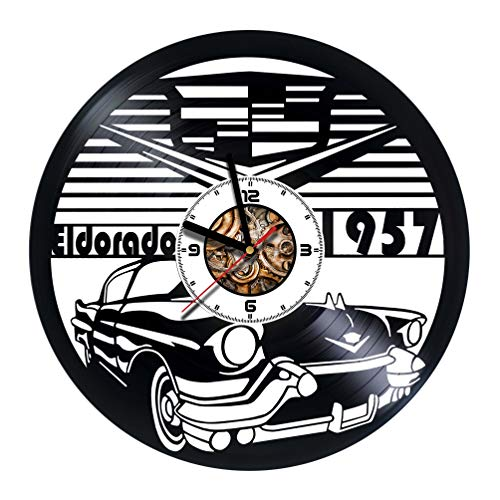 Cadillac - Сar - Automobile - Handmade Vinyl Record Wall Clock - Get unique living room wall decor - Gift ideas for friends