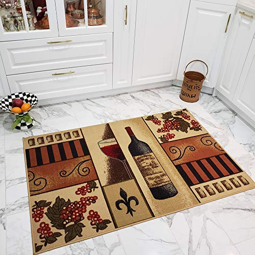 Maxy Home Cucina Grapes 3 ft. 3 in. x 5 ft. Kitchen Area Rug