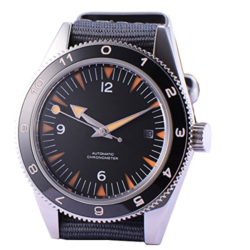 41mm Black Sterile Dial Ceramic Bezel Sapphire Glass 21 Jewels Miyota Automatic Movement Men's ()