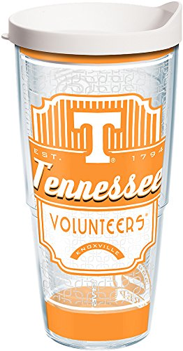 (Tervis 1229120 Tennessee Volunteers Pregame Prep Tumbler with Wrap and White Lid 24oz, Clear)