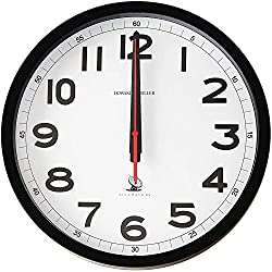 Howard Miller Accuwave II Wall Clock 625-205 - Modern & Round with Atomic, Radio Control Movement