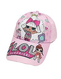 Wazonton LOL Surprise Girls Baseball Cap Adjustable Summer Hat for Surprise Girls Pink