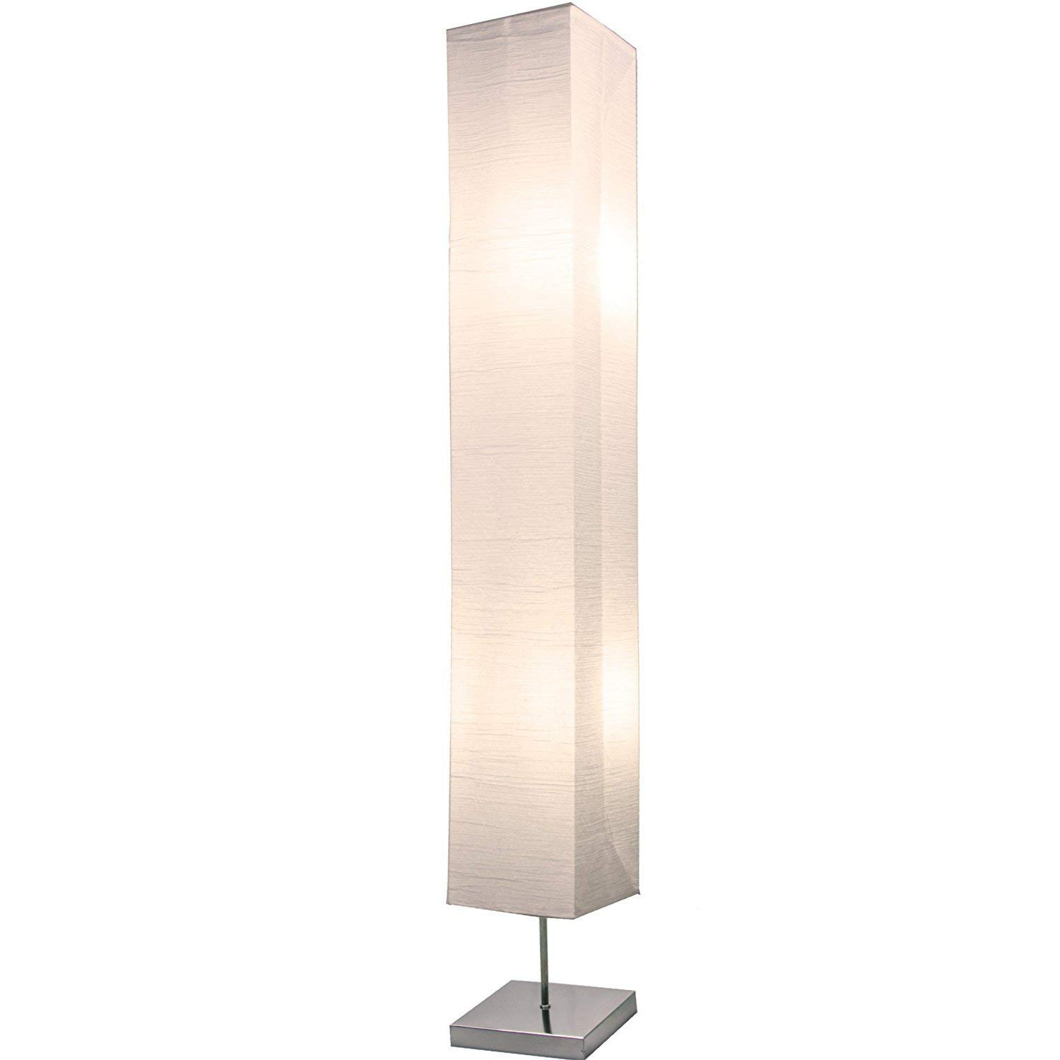 Light Accents HONORS Floor Lamp - Japanese Style Standing Lamps for bedrooms 50 Inches Tall with White Paper Shade - Floor Lamps for Living Room