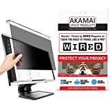 Akamai 23-24 Inch Acrylic Removable Monitor Privacy Screen - LCD Blackout Security Filter - Desktop Computer Protector (23 inch - 24 inch Diagonally Measured, Removable Acrylic)